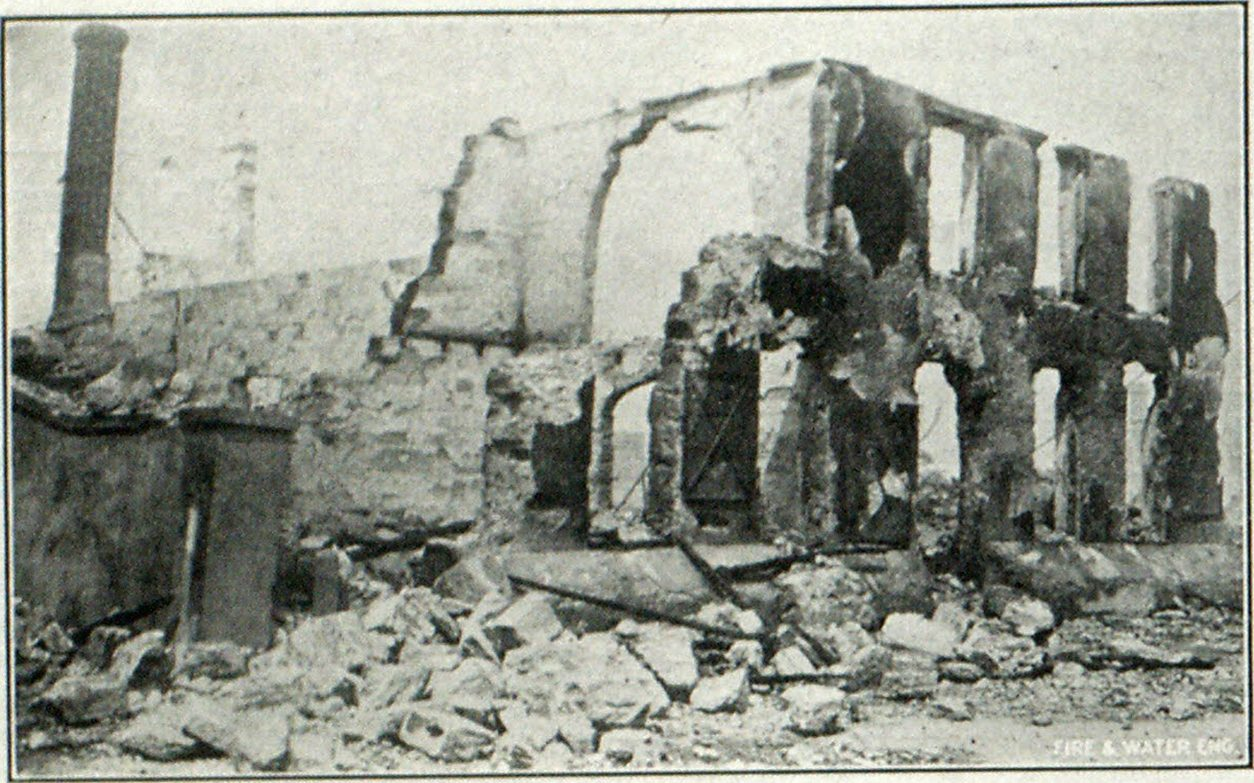 RUINS OF THE ST. AUGUSTINE FIRE.