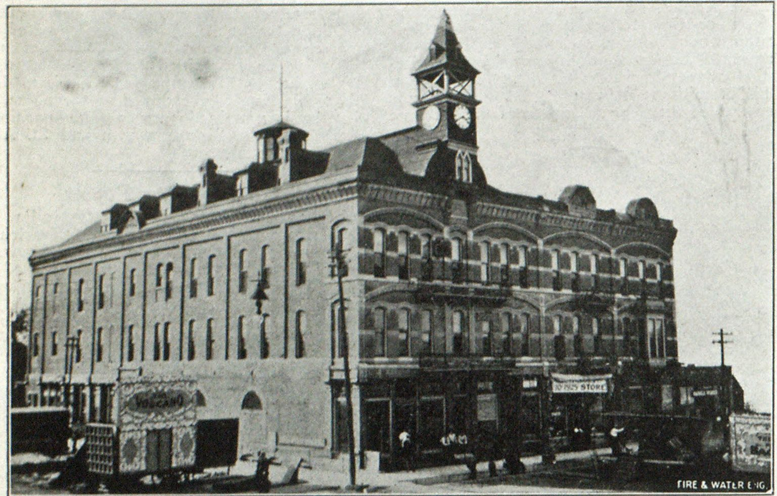 OPERA HOUSE AT NEWTON, KANS., BEFORE FIRE.