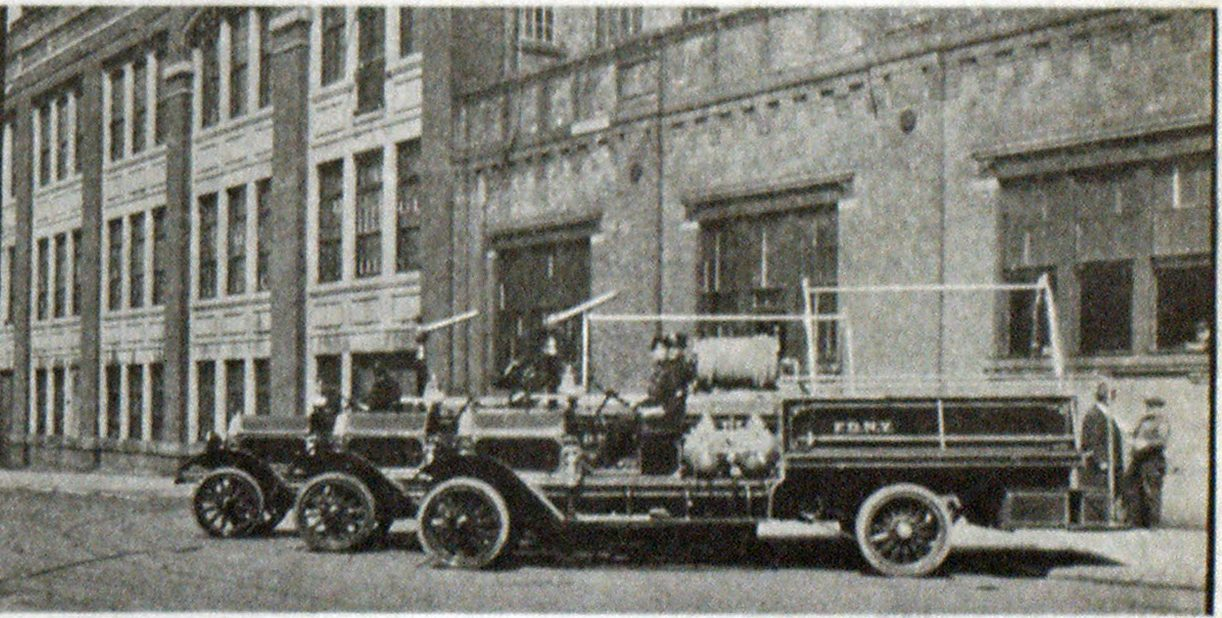 The Three South Bend Double Duty Trucks of the First Shipment Delivered to New York.