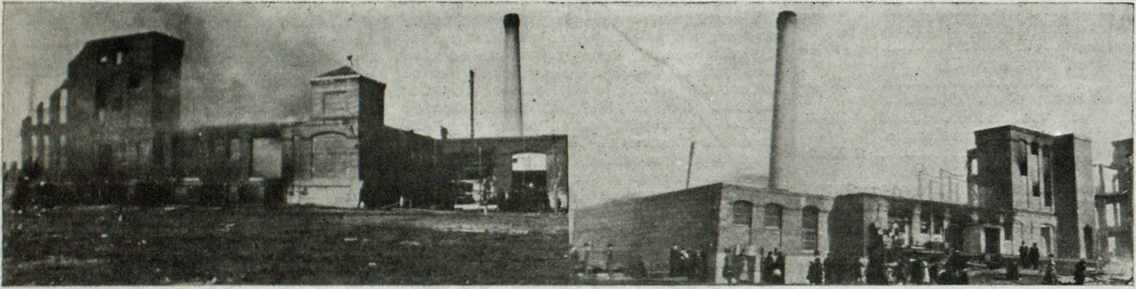 Ruins of the Vermont Chocolate Company's Plant after the Fire at Burlington.