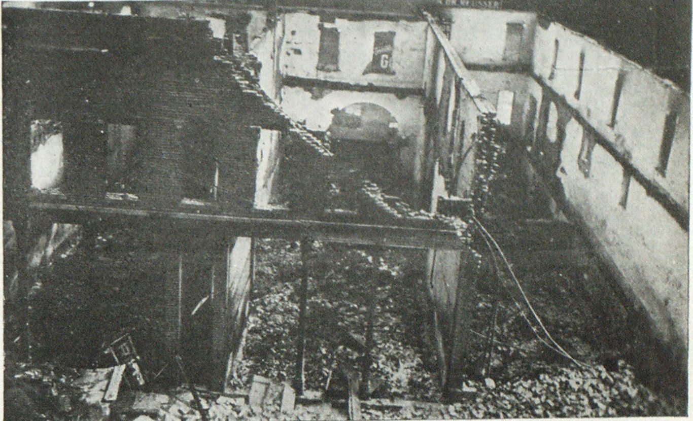 Ruins of Berne Fire, Showing Complete Destruction.