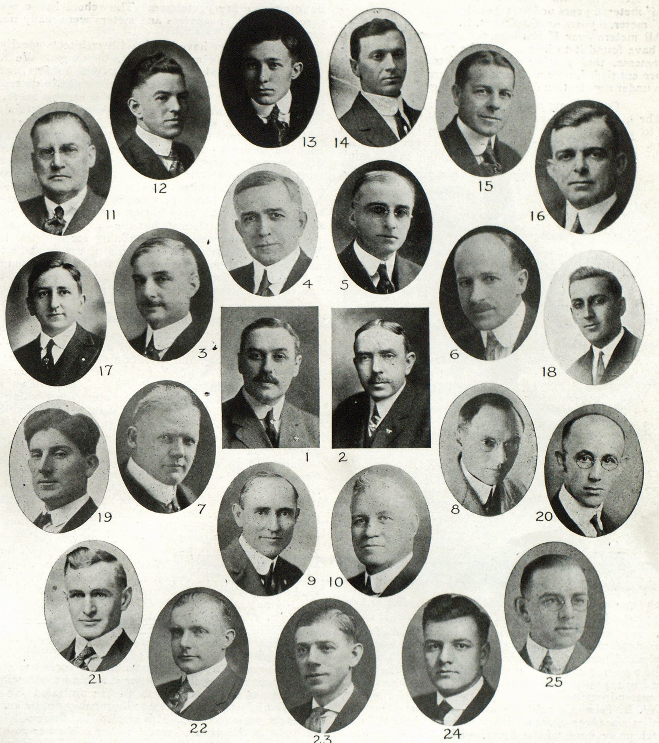 1. A. G. Holmes, Vice-President and Manager. 2. T. C. Clifford, Sales Manager. 3. V'. E. Arnold, District Manager, New York. 4. R. M. Stotler, District Manager, Kansas City. 5. F. G. Swaffield, District Manager, Columbia. 6. II. I. Beardsley, District Manager, Chicago. 7. H. I. Miller, District Manager, Seattle. 8. J. H. Hill, District Manager, Los Angeles. 9. Chas. Barry. 10. J. VV. Turner. 11. J. II. Davis. 12. Z. A. Stanfield. 13. W. H. Davis. 14. J. A. Null: 15. D. C. Kelly. 16. L. L. Ballard. 17. C. R. Zesky. 18. M. J. Harper. 19. F. C. Taylor. 20. G. W. Bailey. 21. G. C. Northrop. 22. D. F. Noonan. 23. F. H. Shores. 24. E. C. Hidlay. 25. A. W. McBride.