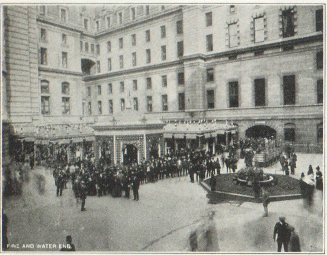 Fig. 1. General View of Water Conservation Exhibit in City Hall Court Yard, Philadelphia Thousands of Pedestrians Pass this Point Hourly
