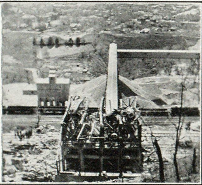 View from North After Fire, Showing Ruins
