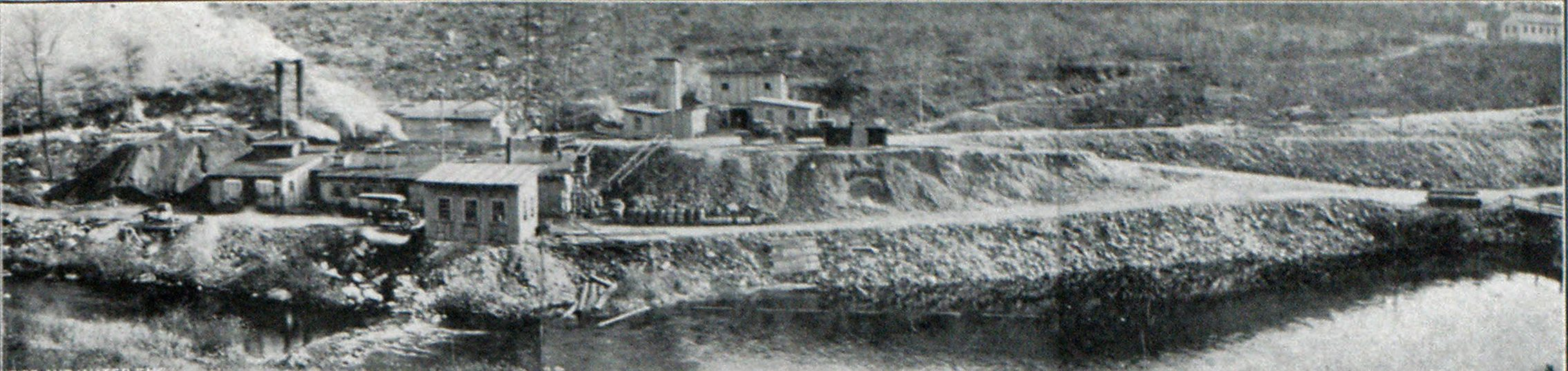 Panoramic View of Waterbury, Conn., Engineering Project in Sbepaug Valley, the Approximate Cost of Which Is Figured at $3,000,000. Entrance to Tunnel Is to Be Seen Slightly to the Right of Top of Steps Leading from Lower Pathway in Center of Picture