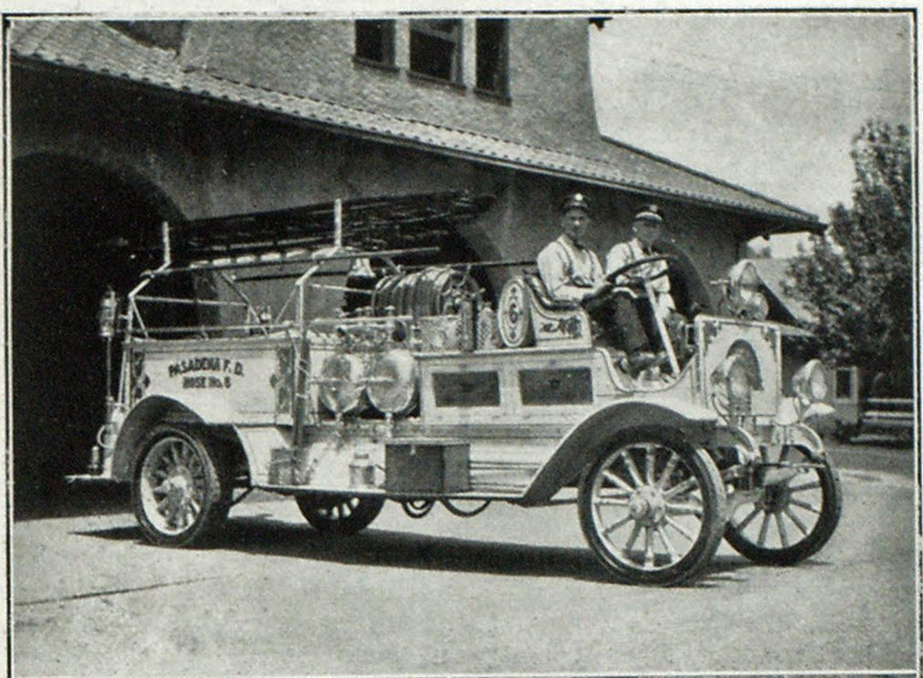 Old Combination Car of Pasadena Fire Department Before Remodelling,