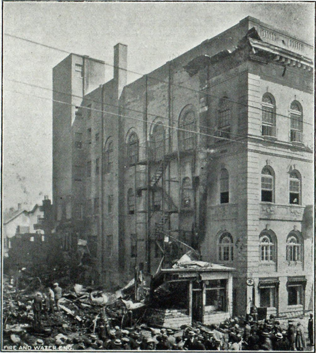 Ruins of Asbury Park Garage, Showing Damaged Elks' Building Adjoining