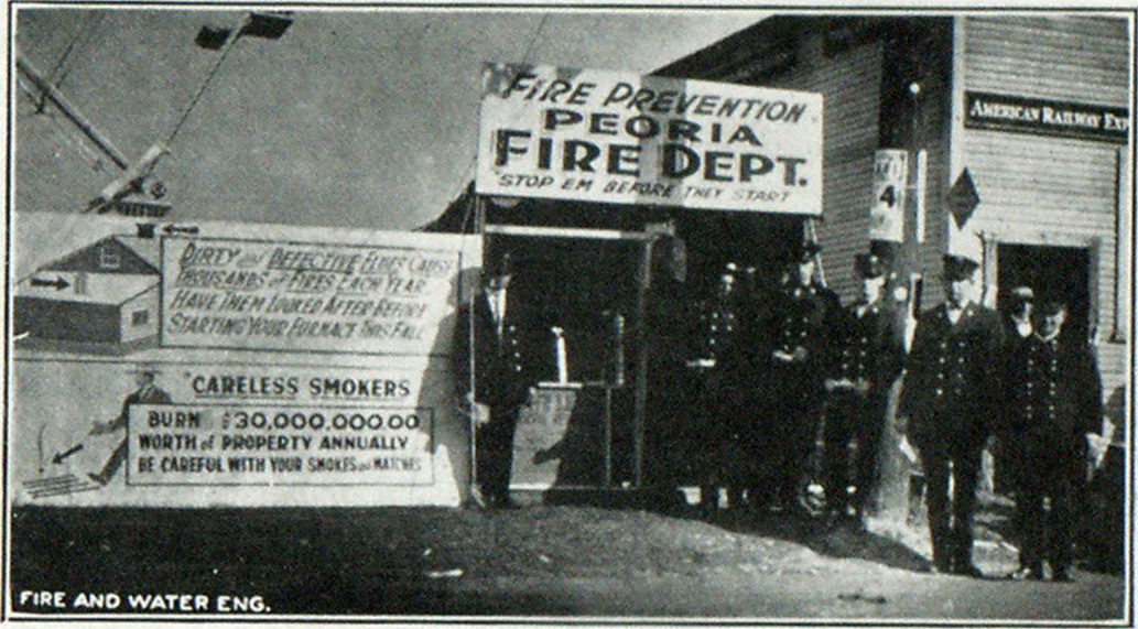 Fire Prevention Booth at Peoria, Ill., Fair