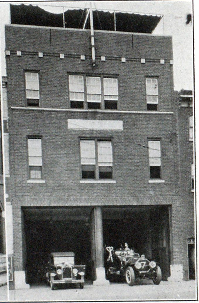 Fire Station No. 7, Home of Engine No. 7 and Truck No. 3.
