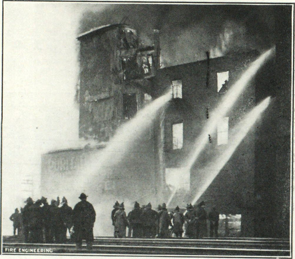 Blaze in the Puritan Mills, Chicago, in Which the Chief and His Men had Narrow Escapes From Falling Walls.