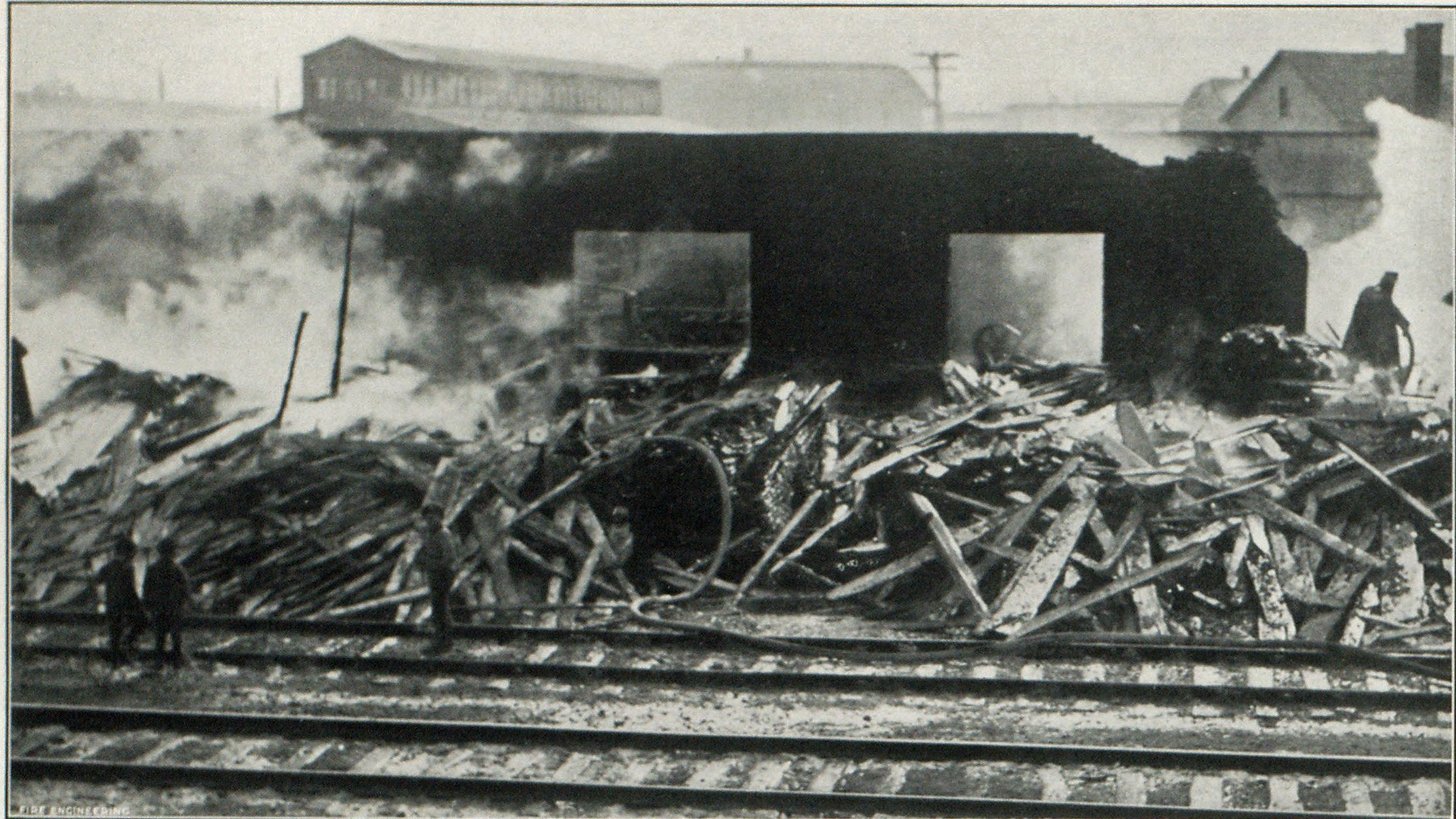 Fire in Big Sash and Door Factory at Hammond, Ind., which for a Time Threatened a Large Manufacturing Area Surrounding It with Destruction, and Necessitated Calling on Two Other Cities for Assistance.