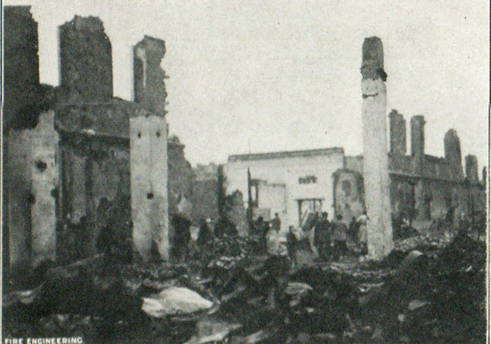 Ruins of Some of the Many Houses Razed by the Fires in the District