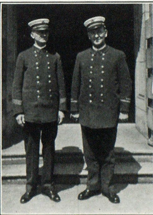 Battalion Chief Harry Johnson and Battalion Chief Wm. R. Heath, Mt. Hood Loop Trip and Hotel and Baggage Committee Chairmen.
