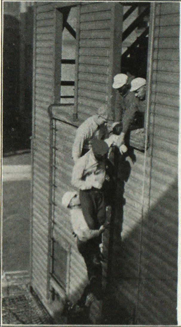 Rescue of Unconscious or Injured Man from Building by Means of Scaling Ladder, Pittsburgh Firemen's draining School.