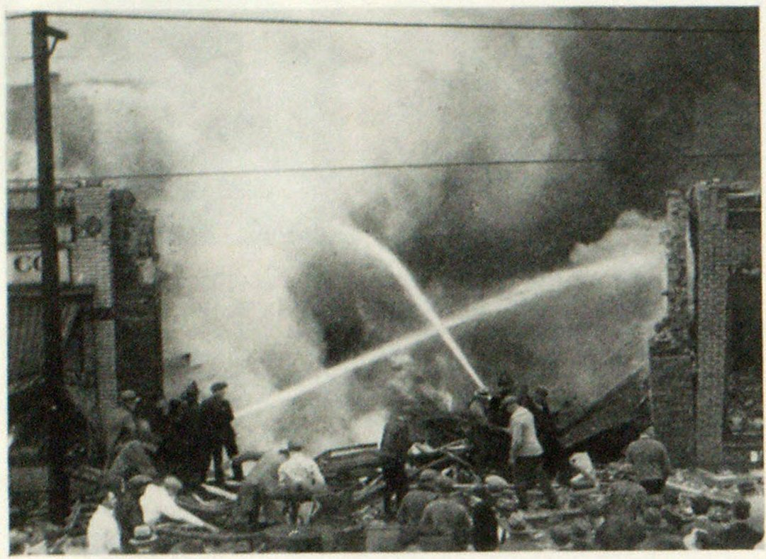 Shortly After the Gas Explosion Toole Place in Highland Park, Mich.