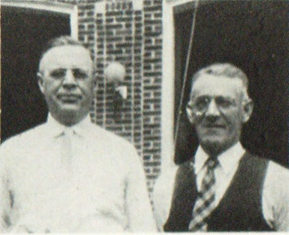 Chief Herbert Constantine, Bangor. First Vice President and R. C. Bicknell, Norway, Secretary of the Association.