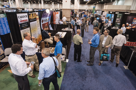 The HydroVision International exhibit hall provides more than 300 chances for learning about the industry's products and services, by visiting exhibitors' booths.