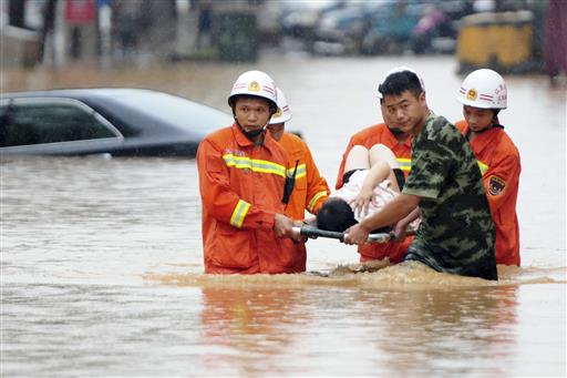 Thousands Evacuated from China Floods