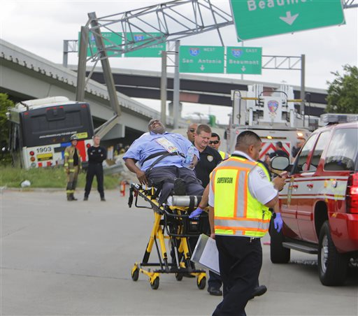 APTOPIX Bus Crash Houston