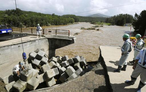 Typhoon Lionrock Floods Northern Japan