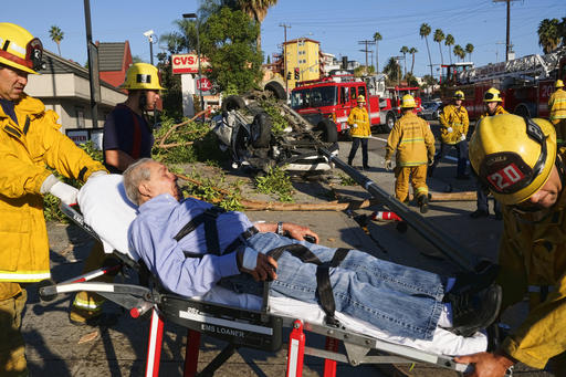 LAFD Extricates Patient from Vehicle Crash