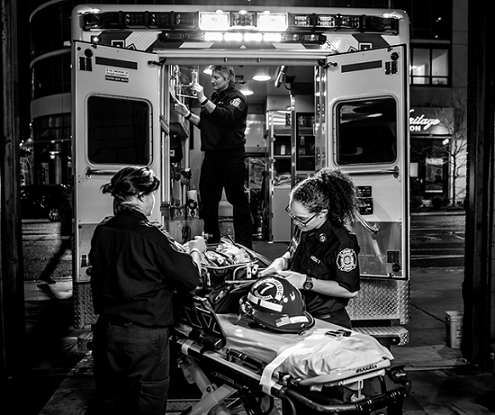 Paramedics and EMTs are 12 times more like to be assaulted than firefighters