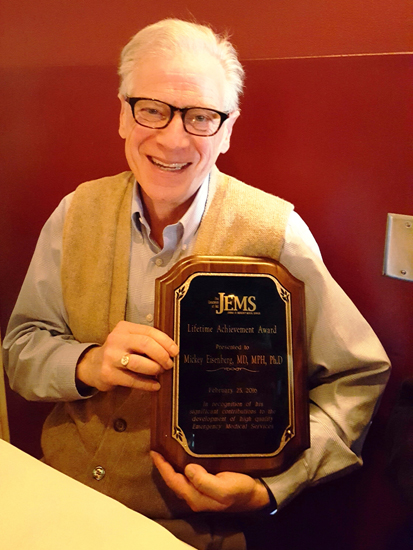 Mickey Eisenberg JEMS lifetime achievement award