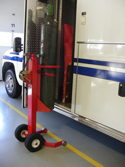 Oxygen Tank Lifter from Traffic Safety System