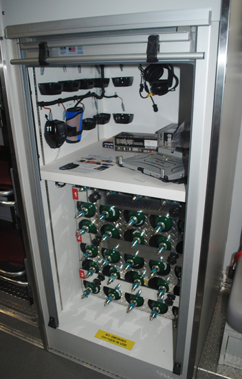 MERV interior includes oxygen canisters and individual telemetry setups