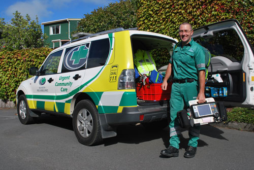 In rural areas of New Zealand, Urgent Community Care paramedics have the ability to treat non-acute illness and injury and provide patient navigation services so as to avoid transport and unnecessary ED admission. Photo courtesy Wellington Free Ambulance