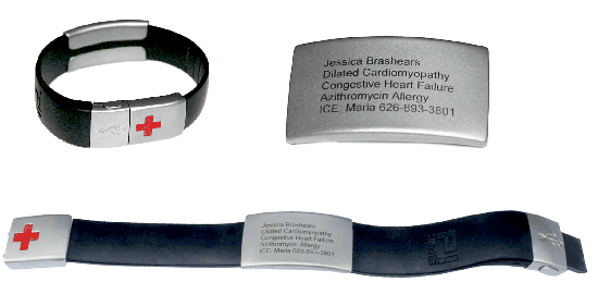 EPIC-id USB Emergency ID Bracelet from Prolific Design Group