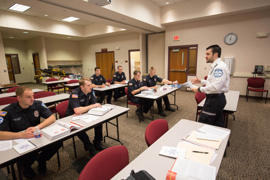 Allina EMTs and paramedics routinely provide training