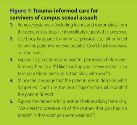 EMS care for sexual assault survivors