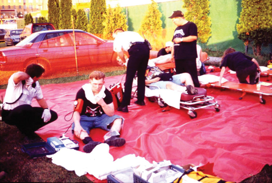 EMS triage and patient care at MCI