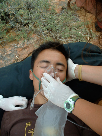 EMS treatment of altitude sickness