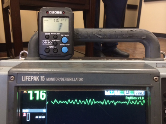 Metronomes attached to monitor/defibrilators allow agencies to fine tune CPR compression rates