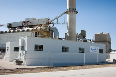 Skyonic's SkyMine was listed by EPA as an advanced combustion control technology for fossil fuel power plants. Photo courtesy Skyonic.