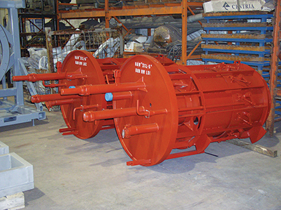Advanced low NOx burners for gas-fired boilers. Photo courtesy: Babcock & Wilcox