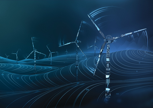 GE's Digital Wind Farm hardware and software package allows engineers to capture fast-flowing data from the turbine, the facility as a whole and the grid to further optimize wind energy production. Photo courtesy: GE