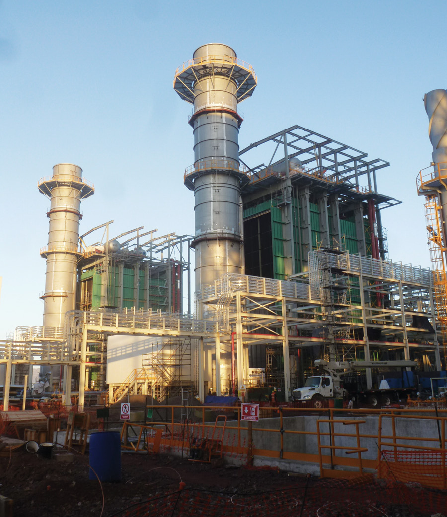 Iberdrola's 890-MW Topolobampo II combined cycle plant is scheduled for commercial operation in January 2019. Topolobampo II is a high-efficiency natural gas-fired plant. The plant's heat recovery steam generator is illustrated. Source: Iberdrola