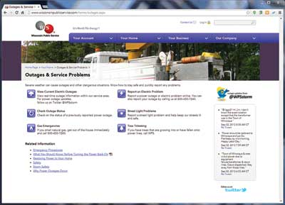 Utility Outage Management Website