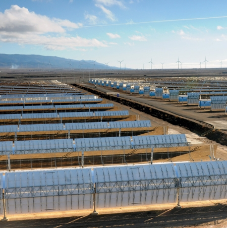 The Andasol 3 solar plant in Spain