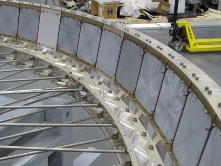 Wafers being processed in the Hyperion 3 tool. (Source: Twin Creeks Technologies)