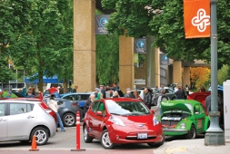 Greening City Grids for EVs