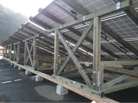 A Marriage Between Solar and Forest: Japan Promotes Wooden PV Racking Systems